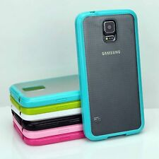 TPU Bumper Frame with Matte Clear Hard Back Case for Samsung Galaxy S5 SV i9600
