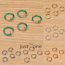 5pcs Punk Clip on Ball Fake Hoop Nose Lip Ear Ring Piercing Body Stud Earrings