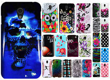 LG Lucid 3 VS876 HARD Protector Case Snap Phone Cover + Screen Protector