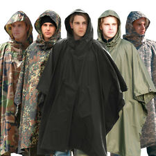 PONCHO NATURE OUTDOOR CHASSE PLUIE ARMEE TREKKING CAMPING RANDONNEE CAMOUFLAGE