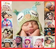 Handmade Baby Animal Owl Beanie Child Photo Crochet Knit Costume Hat Cap Prop