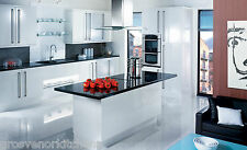 WHITE, CREAM AND BLACK GLOSS SLAB KITCHEN UNIT/CABINET DOORS END OF LINE STOCK