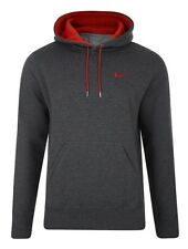 New Nike Mens Homme Fleece Hooded Sweatshirt Dark Grey Top Hoodie Sizes S M L XL