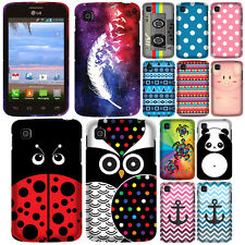 For Tracfone LG Optimus Dynamic 2 L39C Anchor Snap On HARD Case Cover Accessory