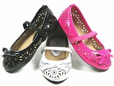 New Toddler Baby Girls Ballerina Slip-On Flats Shoes Sizes 4-9