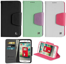 NEW INFOLIO WALLET CREDIT CARD ID CASH CASE STAND FOR LG VOLT LS740 F90 PHONE