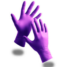 100 EXTRA STRONG Medical Purple Powder Free Nitrile Disposable Gloves Click 2000