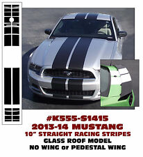 "K555 2013-14 MUSTANG 10"" LEMANS STRAIGHT STRIPES GLASS ROOF NO WING / PED"