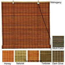 Burnt Bamboo 60-inch Roll-up Window Shade (China)