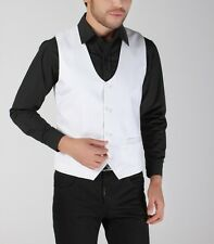 Fashion Mens Solid Four Buttons Wedding Business Vest Formal Dress Waistcoat