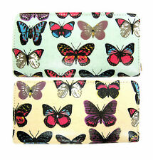 Ladies Ella Butterfly Print Bifold Purse 2 Colours Available 72676
