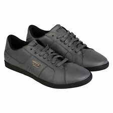 Diesel Mens Gotcha Gray  Leather Lace Up Sneakers Shoes
