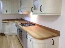 Full Stave Rustic Solid Oak Worktop,85-120mm staves - no joints FREE DELIVERY!!!