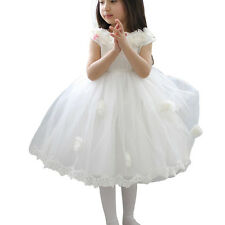 New White Ivory Flower Girl Dress Pageant Wedding Bridesmaid Dance Party 2 4-10