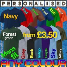 Personalised Printed T shirt - Custom Design T shirt, Logo, Text, Free P&P