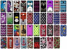 For HTC Droid DNA 6435LVW Snap On Protector Rubberized Hard Cover Phone Case