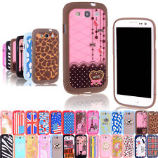 Luxury Hybrid Pattern Hard Case Cover For Samsung Galaxy S3 SIII i9300