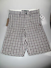 """New Vans junior fulton fitted checkered boys board shorts age 14-16 26""""-28""""waist"""