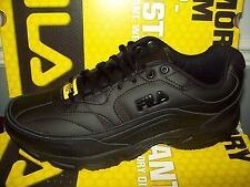 Fila Men's Memory Workshift Slip-Resistant Sneaker #ISGW0002-001 All Black 4E