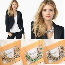 Fashion Vintage Punk Rivet Crystal Rhinestone Pendant Collar Link Chain Necklace