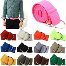 New D O-Ring Canvas Belts Multiple Colors Adjustable Golf Fashion Web Belt Mens