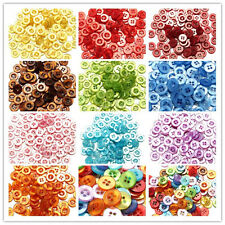100/200pcs 11mm SHINY RESIN BUTTONS - MIXED COLOURS - CRAFT - SCRAPBOOK - SEWING