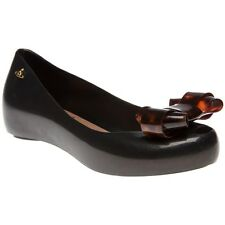 New Womens Vivienne Westwood And Melissa Black Ultragirl 12 Rubber Shoes Flats