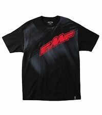 "FMF Racing ""Straight Up"" Mens Cotton T-Shirt Black or White Tee With FMF Logo"