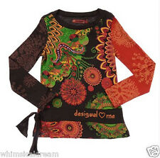 Desigual loves me long sleeve funky retro top Sz 3 - 4 / 9 - 10 & 11 - 12 yrs