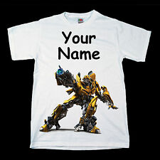 Transformers Bumble Bee Personalised Kids Tee T-Shirt T Shirt