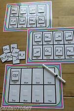 Learning boards 3 & 4 letters, ~spelling~writing~word recognition~ velcro pecs
