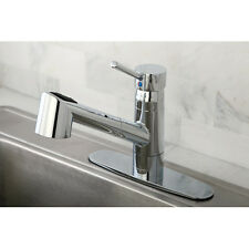 Kingston Brass Wilshire Gourmetier Single Handle Pull-Out Spray Kitchen Faucet