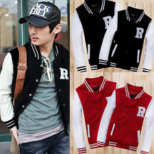 Unisex Men's Varsity Letterman University College Baseball Jacket Coats Tops