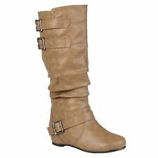 Hailey Jeans Co. Women's 'Tiffany' Round Toe Buckle Detail Boots