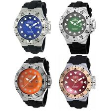 Invicta 50mm Excursion Stainless Steel Silicone Strap Screw Down Date Watch