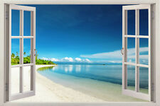 Beach view 2014 Window View Removable Wall Art Stickers Vinyl Decal Home Decor