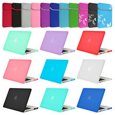 """New Matte Rubberized Hard Case Cover for Macbook Air 13"""" & Pro 13"""" Retina+Sleeve"""