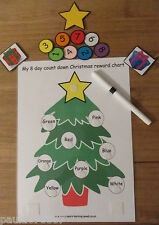 Reward charts~Christmas count down~Promote good behaviour~ colour boards~cards