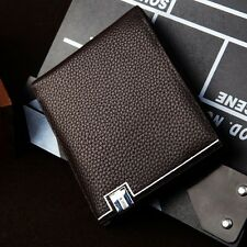 Men's Faux Leather Bifold Wallet ID credit Card holder Clutch Cash Purse Pockets