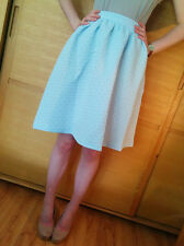♥New TOPSHOP Baby Blue Textured A Line Midi Skirt Size 4 6 8 10 12 14 16 RRP£45♥