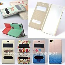 For MIUI Xiaomi M3 MI3 Painting Stand Flip Side Open PU Leather Cover Skin Case
