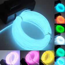 Creative EL Wire Tube Rope Neon Light Glow Controller Car Party Decor Flexible