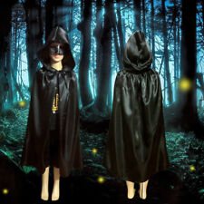 Stain Cape Hooded Halloween Costumes for Children Fancy Carnival Witch Cloak