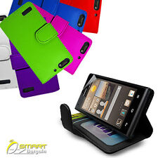 Photo ID Wallet Flip Leather Stand Case Cover for HUAWEI Ascend G6 +ScreenGd