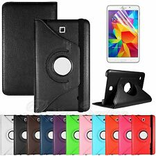 """For Samsung Galaxy Tab 4 7.0"""" T230 Rotating PU Leather Case Stand Cover + Film"""