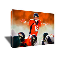 Denver Broncos PEYTON MANNING OMAHA HURRY HURRY photo poster CANVAS ART Painting