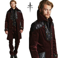 LIP SERVICE GOTHIC CORDUROY VEGI LEATHER TOP VICTORIAN JACKET PIRAT COAT VAMPIRE