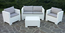 New Rattan Wicker Conservatory Outdoor Garden Furniture Set Brown White