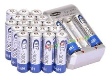 20xAA Ni-MH 3000mAh rechargeable battery BTY+AA AAA Rechargable battery Charger