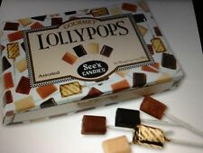 30 SEE'S CANDY LOLLYPOPS  ONE BOX SEES CANDIES LOLLIPOPS